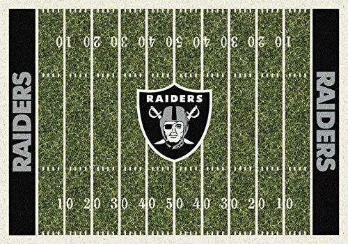 Raiders NFL Team Home Field Area Rug by Milliken, 5'4