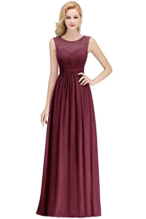 5dc9a186dc MisShow Women's A Line Chiffon Bridesmaid Dresses Long Prom Formal Evening  Gowns at Amazon Women's Clothing store: