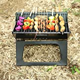 WSJS Folding Home Oven Charcoal Grill Portable Barbecue Grill Smoker Barbecues Table Camping Outdoor Garden Grills BBQ Utensil for Camping Picnics