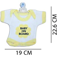 Billy Bum Baby On Board Multicolored Cloth Logo Hanging Safety Sign with Suction Cup for Car (R Pink)