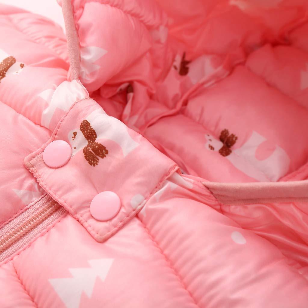 Linkay Coats Chlidren Winter Coats Jacket Kids Zip Thick Ears Snow Hoodie Plus Velvet Keep Warm Clothes