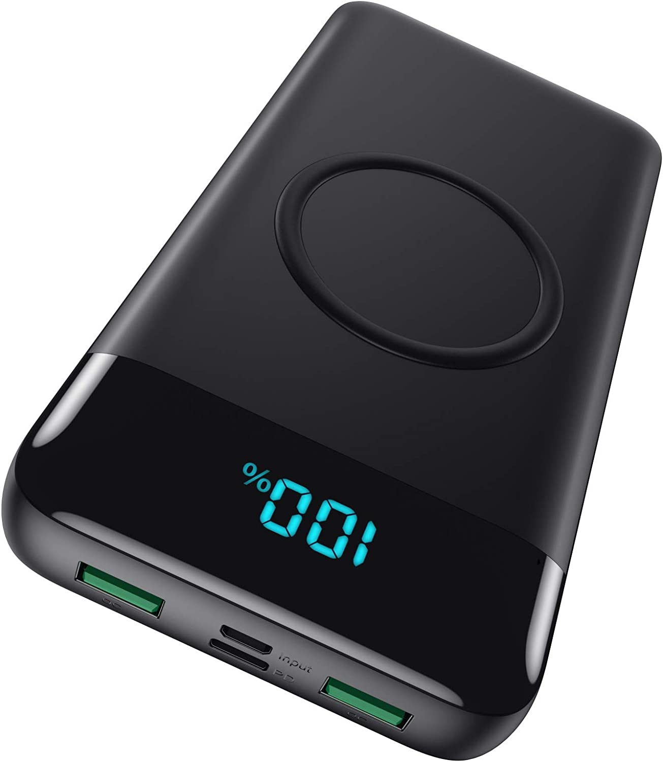 Wireless Portable Charger 30,800mAh 15W Wireless Charging 25W PD QC4.0 Fast Charging Smart LED Display USB-C Power Bank, 4 Output & 2 Input External Battery Pack Compatible with iPhone, Samsung, iPad
