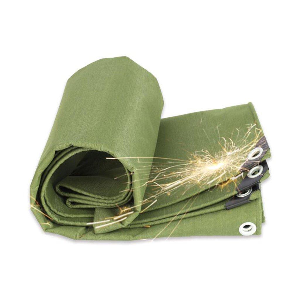 LIXIONG オーニング ターポリン テント 屋外 防水 シェード 耐寒性 通気性のある キャンバス カーポート 厚い 防塵の 抗UV 15サイズ、カスタマイズ可能 (色 : Green, サイズ さいず : 4.8x6.8m) B07FVS6JHY 4.8x6.8m|Green Green 4.8x6.8m