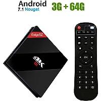 EstgoSZ Android 7.1 TV Box 3GB RAM 64 GB ROM 4K Ultra HD Smart TV Box with Amlogic S912 Octa-Core CPU Dual Band WiFi 2.4G/5.0G 1000M LAN H.265 Bluetooth 4.1
