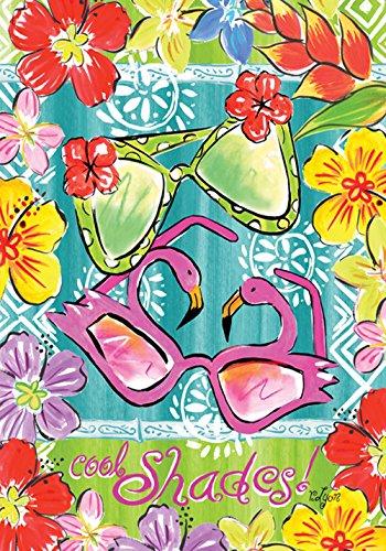 Toland Home Garden Aloha Sunglasses 12.5 x 18 Inch Decorative Colorful Flower Tropical Summer Shades Garden - Vivid Sunglasses
