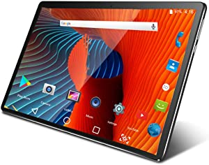 Tablet 10 Inch Android 9.0 3G Phone Tablets with 32GB Storage Dual Sim Card 5MP Camera, WiFi, Bluetooth, GPS, Quad Core, HD Touchscreen, Support 3G Phone Call (Black)