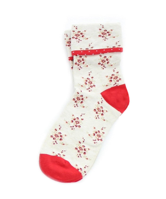 1950s Socks- Women's Bobby Socks MeMoi Vintage Floral Womens Ankle Socks $11.98 AT vintagedancer.com
