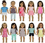 PZAS Toys Doll Clothes for American Girl - Wardrobe Makeover, 10 Outfits, Fits 18'' Dolls