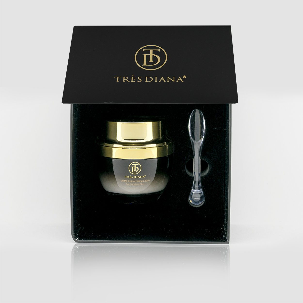 TRÈSDIANA DMAE Instant Lifting Cream - Premium Anti-Aging, Face and Neck, Moisturize, Perfect for Oily, Dry and Sensitive Skin, Natural Blend of Vitamin E, Caviar, Aloe, Green Tea Extract, 1.7 fl. oz