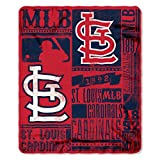 MLB St. Louis Cardinals Strength 50-inch by 60-inch Printed Fleece Throw, Red