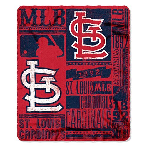 Blanket St Louis (The Northwest Company MLB St. Louis Cardinals Strength Fleece Throw Blanket 50-inch by 60-inch, Red)