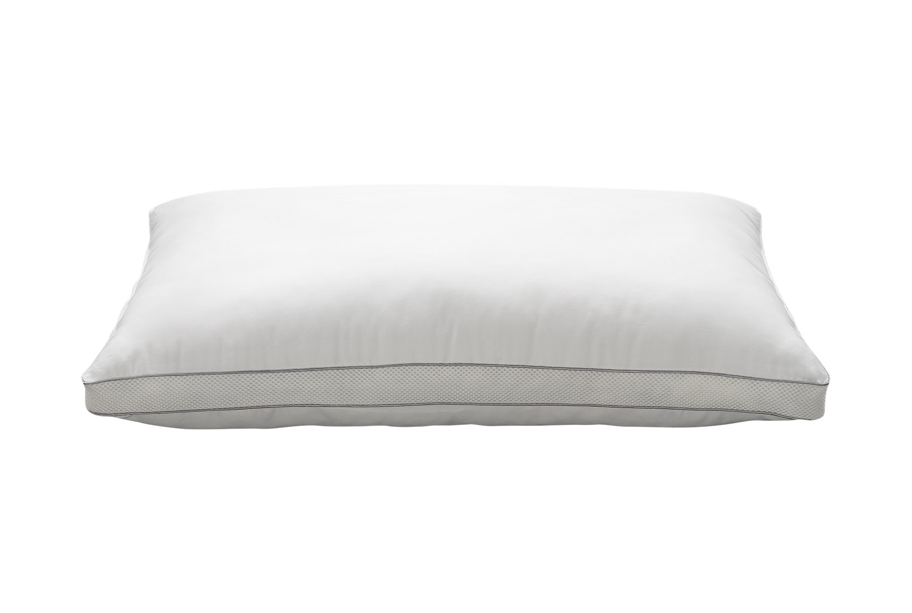 Ella Jayne Home Luxury Mesh Gusset Style MEDIUM SOFT Gel Fiber Filled Bed Pillow with 100% Cotton Shell, Standard Size Pillow, Ideal for Stomach Sleepers, Single