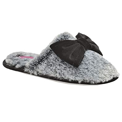 df455e75fd94 Dunlop Women s Cassie Slippers - Charcoal Grey Black - UK3