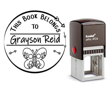 Amazon Self Inking Personalized This Book Belongs To Stamp