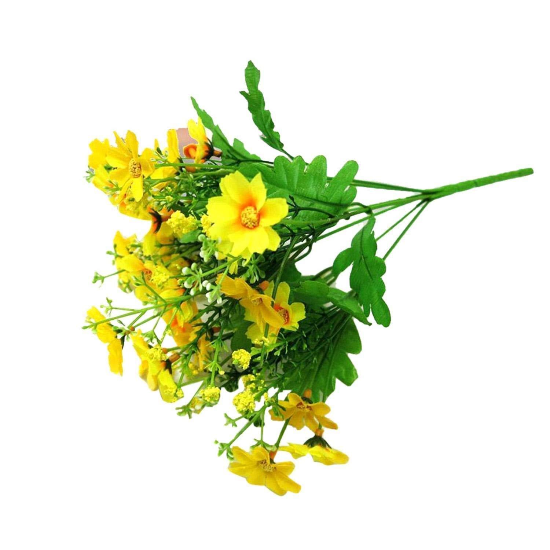 ホームインドアアウトドアデコレーションパーティーウェディング花柄フェイク人工花 イエロー MYEDO B079ZRDZVQ 5 5
