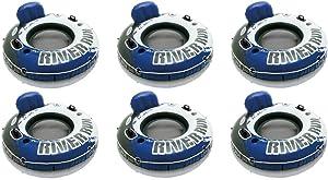 Intex River Run 1 Inflatable Floating Tube Raft for Lake, River, & Pool (6 Pack)