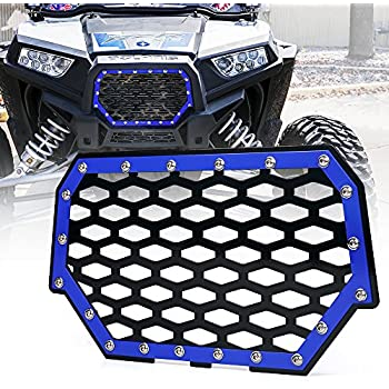 Amazon Com Xprite Black Steel Mesh Grille With 8 Led Lightbar For