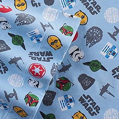 Star Wars Character Print Flannel Sheet Set
