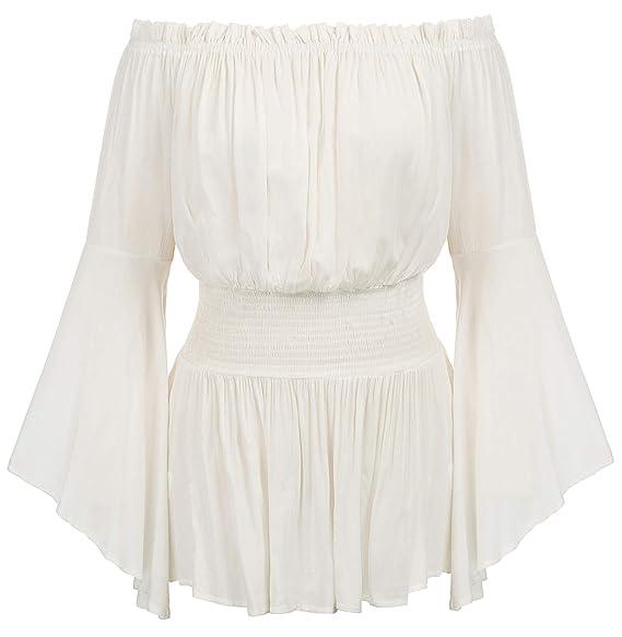Amazon.com: Blusa para mujer de talla grande con hombros ...