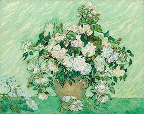 Roses - Masterpiece Classic - Artist: Vincent van Gogh c. 1890 (16x24 Giclee Gallery Print, Wall Decor Travel Poster)