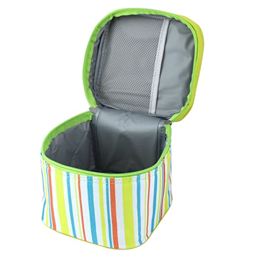 Amazon.com: Viagem DealMux portátil Stripes Thermal Design Refrigerador Duplas Lunch Box Armazenamento piquenique sacola Bolsa: Sports & Outdoors