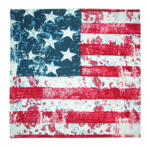CTM Distressed American Flag Bandana, Navy (Bandana Usa Flag)