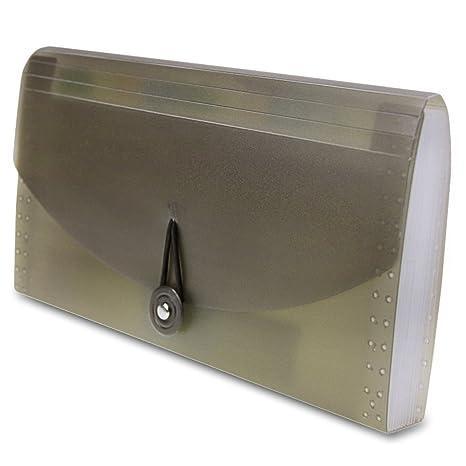 Minicartera de archivos expandible, con 13 bolsillos de tamaño carta, carpeta portátil tipo acordeón
