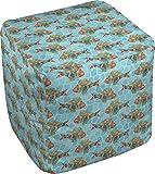 RNK Shops Mosaic Fish Cube Pouf Ottoman - 13'' (Personalized)