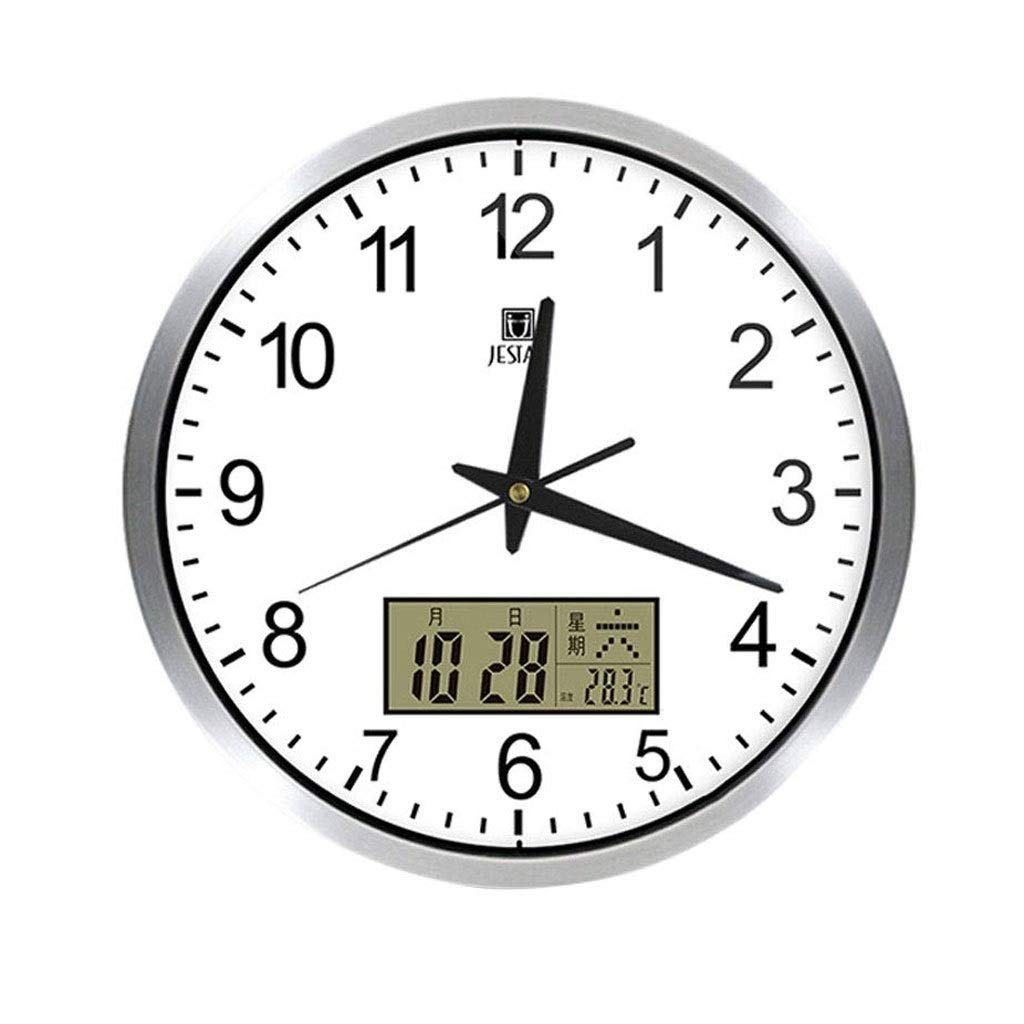 RTYUU Thermometer and Hygrometer Electronic Wall Clock Bedroom Living Room Office