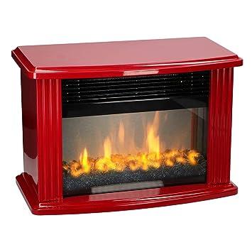 bakaji chimenea estufa electrica Mini con efecto Fuego A LED chimenea 2 niveles de potencia 750