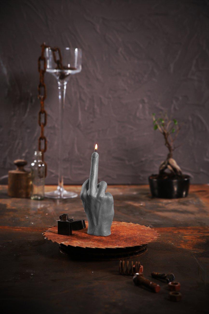 Candellana Candles 5902815467946 Middle Finger Candellana Candle-Gray M, Gray Matt by Candellana Candles (Image #4)