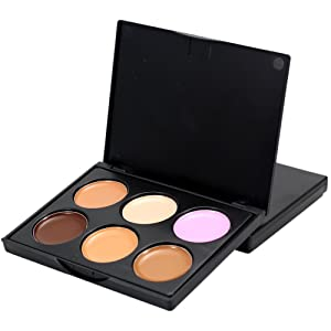 Shouhengda Concealer Face Primer Cream Contour Palette Make Up Facial Contouring Palette 6 Colors A02