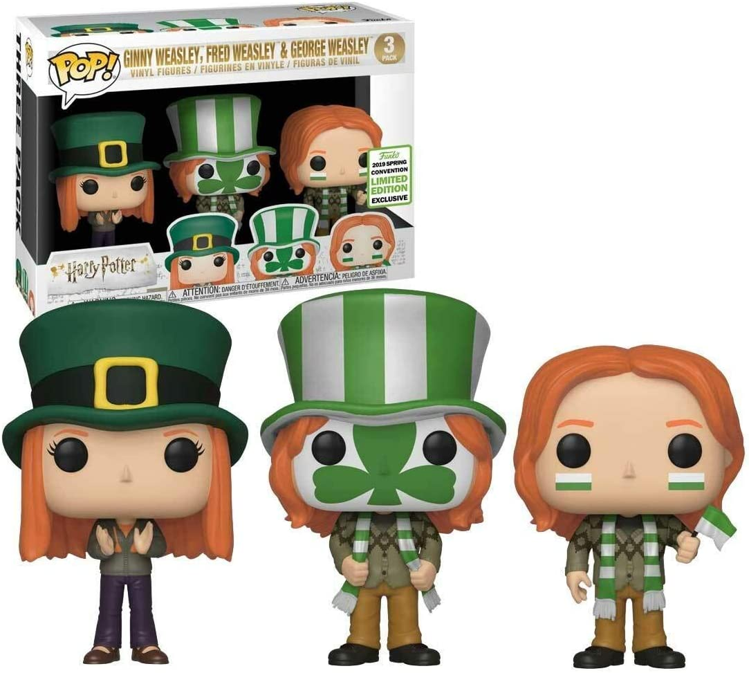 Funko Pop 3 Pack Harry Potter 37209 Fred George Ginny ...