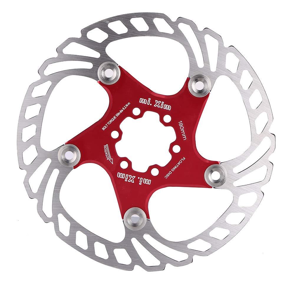 Everpert Freno Disco para Bicicleta Disco Freno Bicicleta 180 Rotor de Freno de Bicicleta, Fácil de Usar (Rojo): Amazon.es: Deportes y aire libre