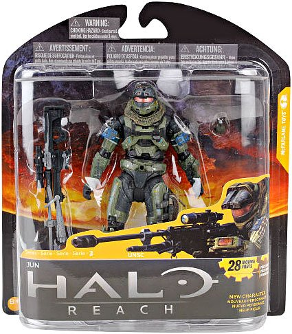 Halo Reach McFarlane Toys Series 3 Action Figure Jun Noble 3