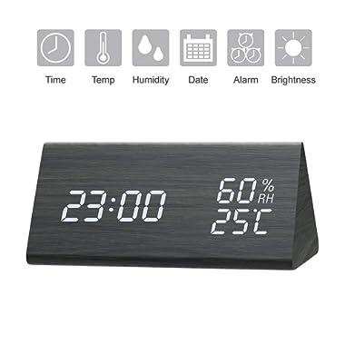 GEEKERS Digital Alarm Clock, Light Duty, Stainless Steel