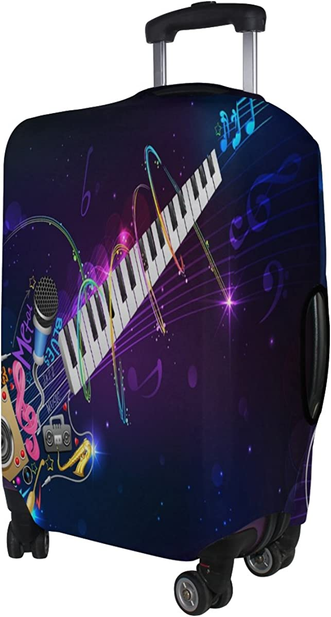 GIOVANIOR Music Guitar Luggage Cover Suitcase Protector Carry On Covers
