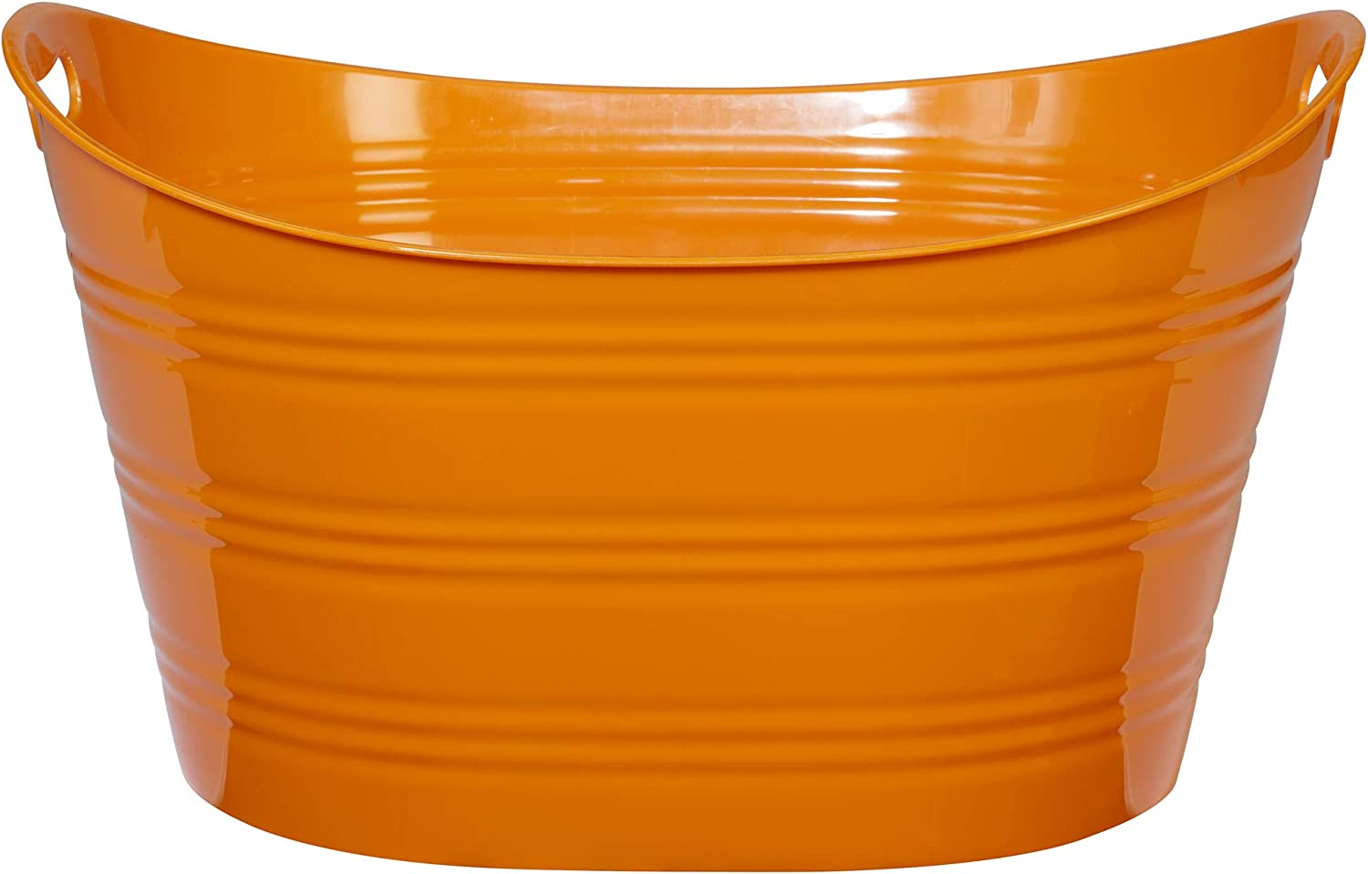 CreativeWare, Orange Party Tub 8.5 Gl, 8.5 Gallon