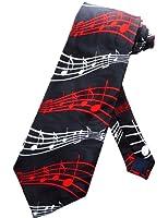 Steven Harris Holiday Music Staffs and Notes Necktie - Black - One Size Neck Tie