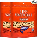 Cat-Man-Doo Life Essentials Freeze Dried Wild Alaskan Salmon Grain-Free Organic Treats for Dogs and Cats - 5 oz Resealable Bag 2 Pack