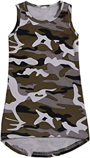 Puseky Baby Girls Camouflage Sleeveless Dress Toddler Casual Dress Outfit