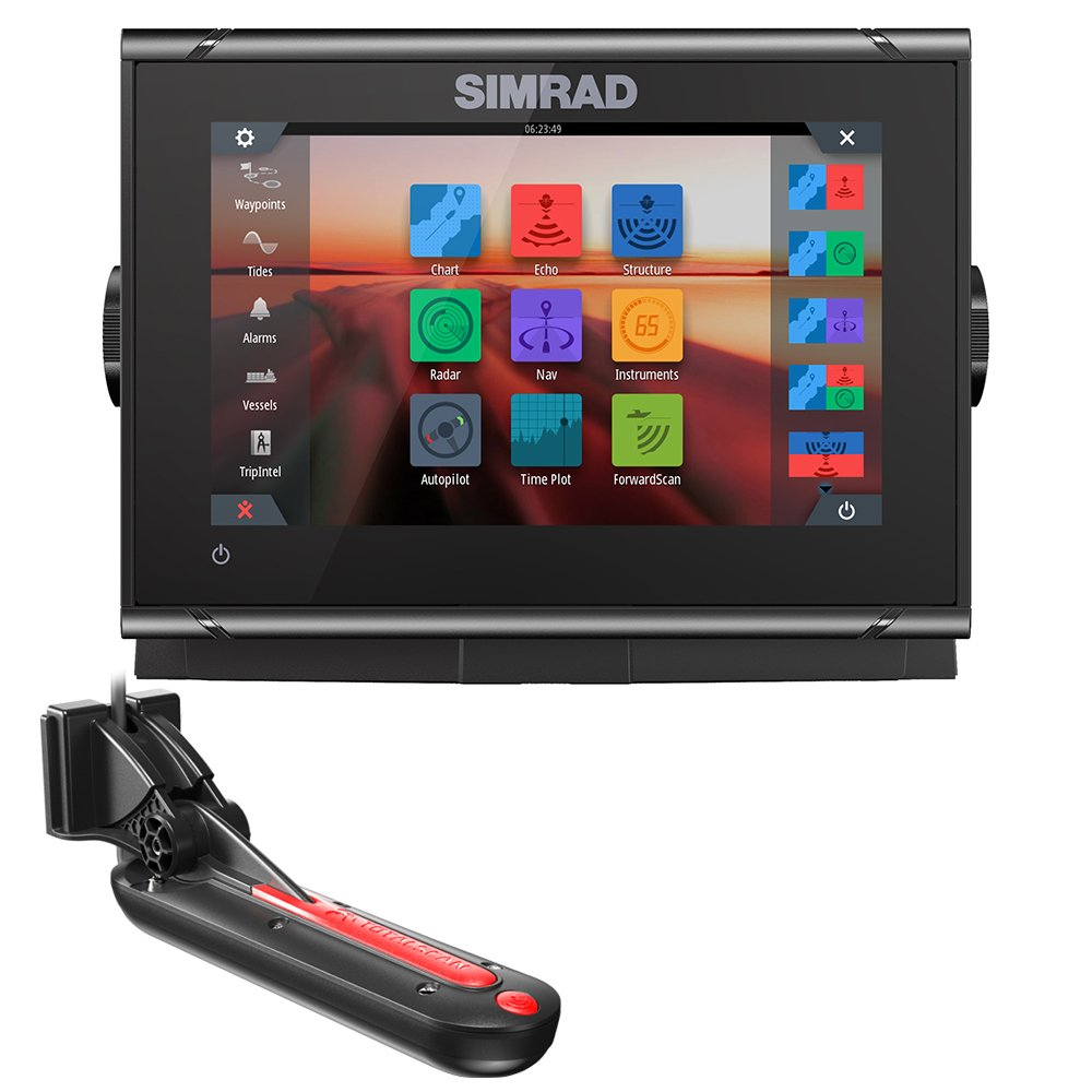 Simrad GO7 XSR Combo w/TotalScan Transducer & Navionics+ USA Charts by Simrad