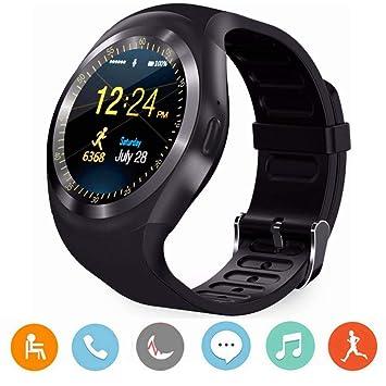 CYGG Reloj Inteligente Bluetooth, Y1 3.0 Reloj con Tarjeta SIM Micro con Pantalla Táctil,