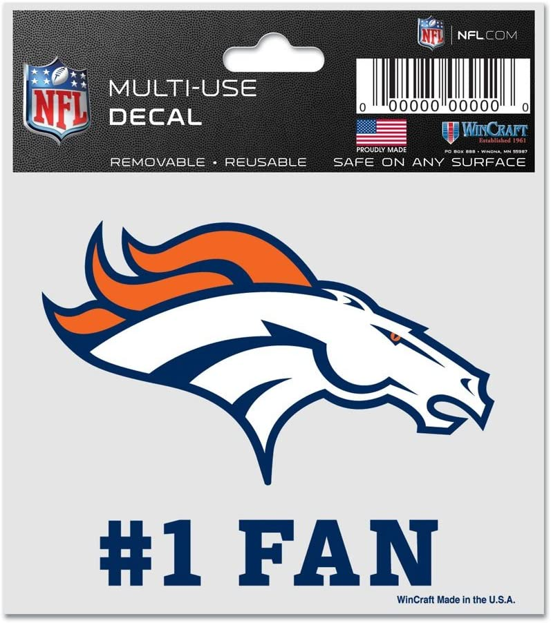3 x 4 WinCraft NFL Denver Broncos 95486010 Multi-Use Decal