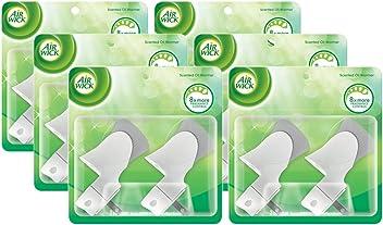 Air Wick Scented Oil Warmer Plugin Air Freshener, 12 ct, Mocha, (2X6ct)