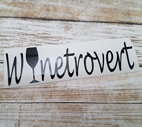 [Winetrovert Vinyl Decal Sticker for Wine Lovers Introverts Extroverts Car Truck Laptop] (Mail Order Bride Adult Costumes)