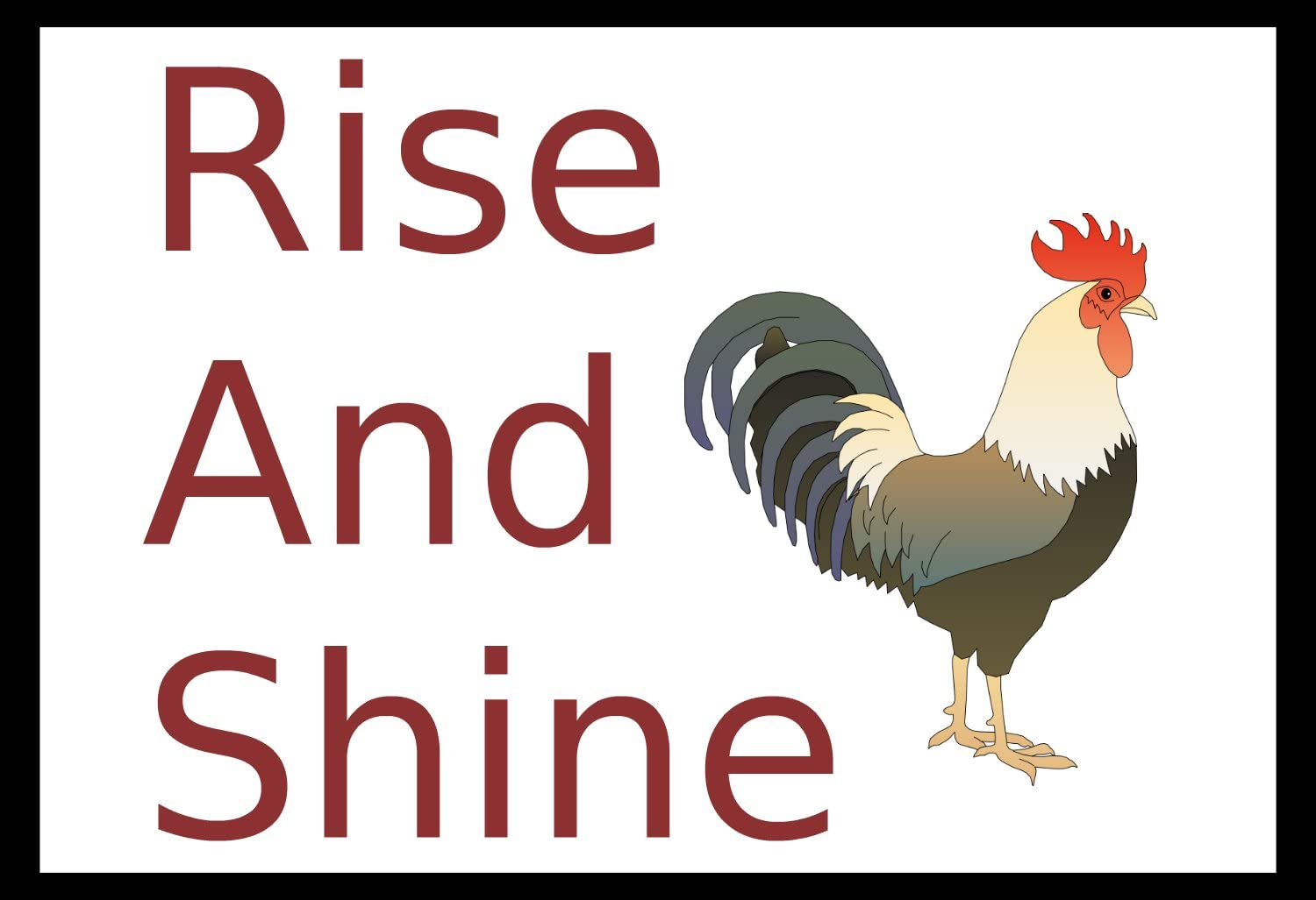 Wooden Sign Rise and Shine Rooster Country Quote Home Decor Country Rustic wood Sign minimalist black and white Clean classic Wall Art
