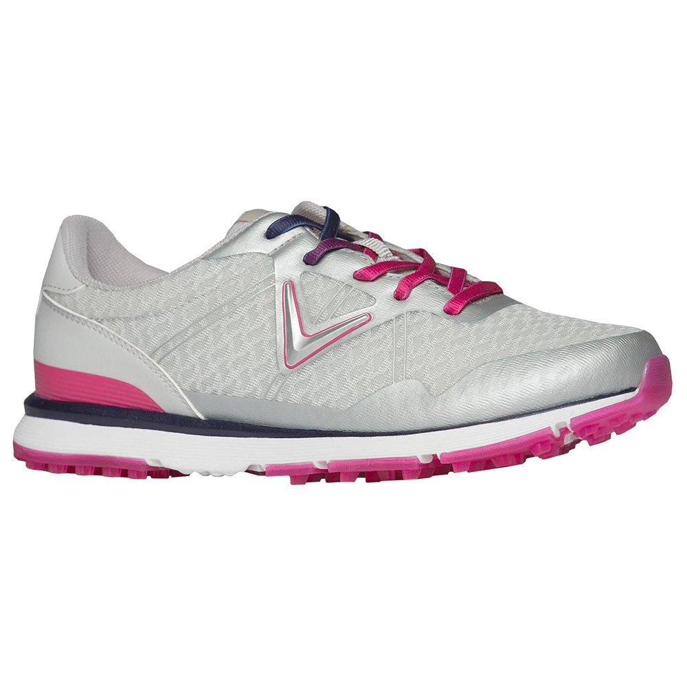 Callaway Women's Solaire Golf Shoe, Grey/Pink, 9.5 B US