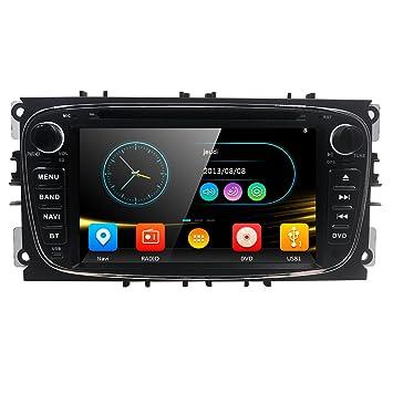 """Reproductor de DVD de Coche Doble 2 DIN 7"""" GPS Navia Bluetooth Cámara para Ford"""
