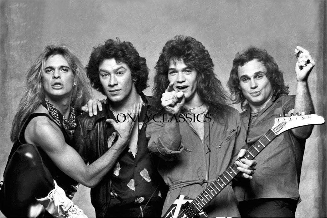 Amazon Com Onlyclassics Van Halen Rock Band 12x18 Photo Poster David Lee Roth Alex Eddie Michel Anthony Posters Prints